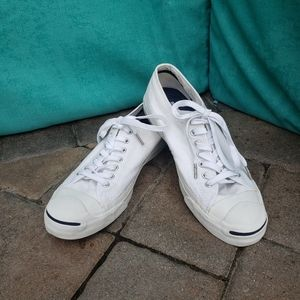 Men Converse jack purcell canvas sneakers size 9.5